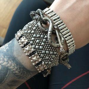 Jewelry - WRIST FULL OF COOL SILVER BRACELETS